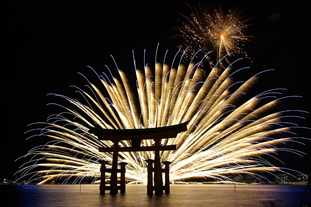Feux d'artifice au Japon